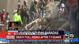 Earthquake in Mexico City kills over 100 peple - Video