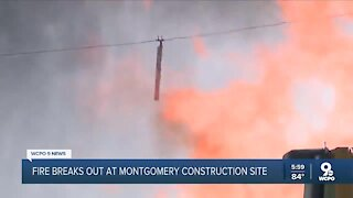 Gas explosion causes massive fire at Montgomery construction site