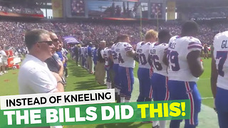 Buffalo Bills Players Show True Class Before National Anthem - Video