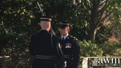 Guard Watching Over the Tomb of Unknown Soldier Gets Stabbed, Keeps His Composure