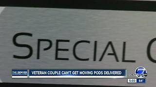 Air Force veteran's struggle to get moving pods from Denver company - Video