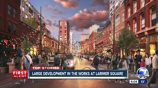 Proposed Larimer Square redevelopment would add affordable housing, alley business spaces - Video