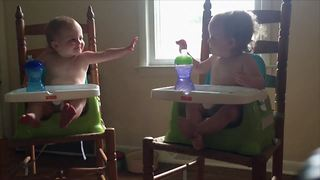 Tot Twin Teases Her Sister - Video