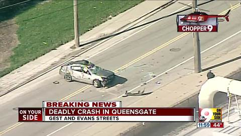 Deadly crash in Queensgate