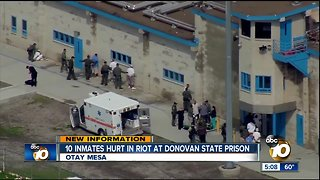 10 inmates hurt in riot at Donovan State Prison