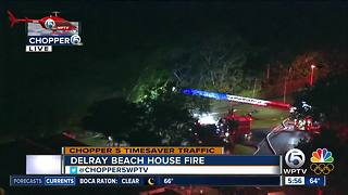 Chopper 5: Crews investigate Delray Beach house fire - Video