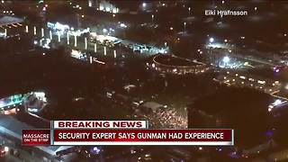 Local security expert says Las Vegas shooter had previous experience with weapons - Video