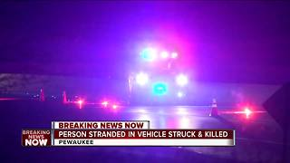 Man struck by vehicle, killed while walking across I-94 in Pewaukee - Video