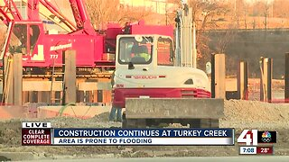 Construction continues at Turkey Creek