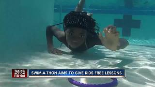 Swim-A-Thon event raises money to help families pay for swim lessons - Video