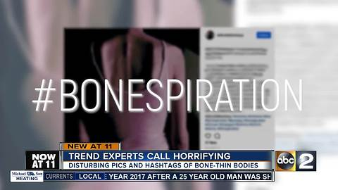 "Disturbing trend promoting being ""bone thin"" spreads on social media"