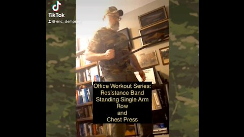 Resistance Band Single Arm Row and Chest Press