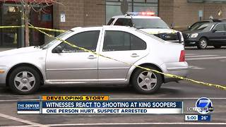 Person injured, possible suspect in custody after shooting near King Soopers in Green Valley Ranch - Video