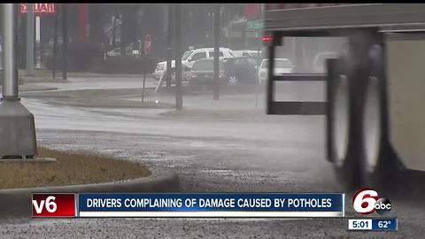 Temperature changes mean more potholes for Hoosiers to avoid