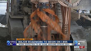 895 Construction set to begin Tuesday