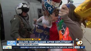 Navy helicopter squadron returns after deployment - Video