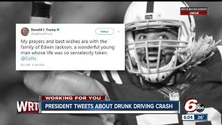 President Donald Trump tweets about Edwin Jackson's death - Video