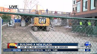 New plaza under construction in downtown Denver