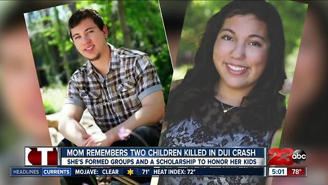 Mom remembers two children killed in DUI crash one year later