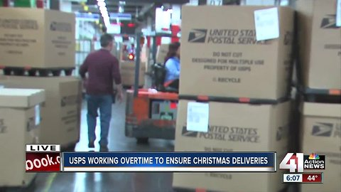 USPS working overtime to ensure on-time Christmas deliveries