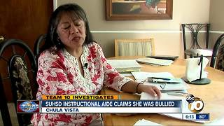 SUHSD Instructional aide claims she was bullied - Video