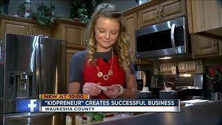 Hartland 12-year-old creates lip balm business - Video