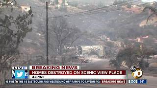 Homes destroyed on Scenic View Place - Video