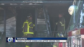 Family of five left homeless after house fire in Warren