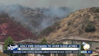 Holy Fire expands to more than 9,000 acres - Video