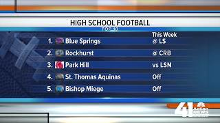 Weekly ranking: KC's best HS football teams - Video