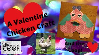 A Valentine's Day Chicken Craft