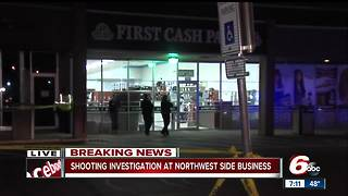 Employee shot during attempted robbery on Indianapolis' northwest side - Video