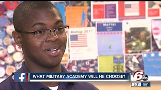 Indy high school senior accepted to all four military academies - Video