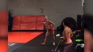 Holly Holm's Awkward Dance Moves - Video