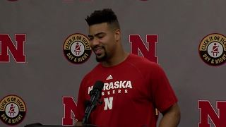 Nebraska football preseason press conference: Dedrick Young - Video