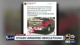 Unmarked DPS vehicle found, but where are the suspects? - Video