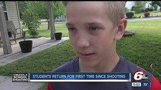 Noblesville West Middle School students return to class almost one week since the school shooting