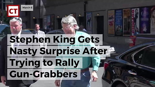 Stephen King Gets Nasty Surprise After Trying To Rally Gun-grabbers - Video