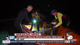 Several people rescued after being dropped in ocean off Del Mar