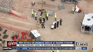 Video shows dramatic rescue at Raiders Stadium site
