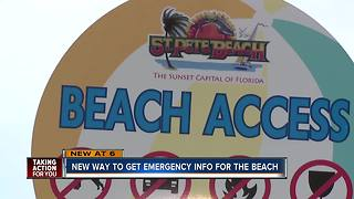 New alert system launched to help keep Tampa Bay beaches community informed - Video