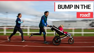 Couple started jogging with their kids in a buggy and now both have world records for pram marathons
