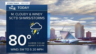 More showers, storms possible Wednesday