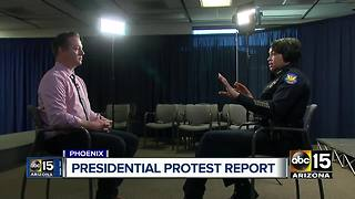 Phoenix police release final report on presidential protests - Video
