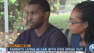 Parents living in car with kids speak out - Video