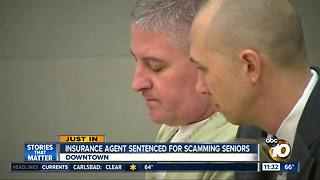 Insurance agent sentenced for scams - Video