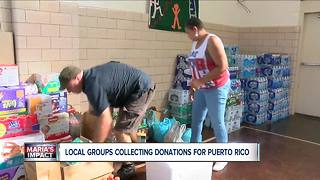 Local groups collecting donations for Puerto Rico - Video