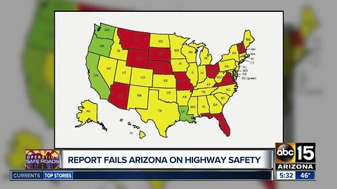 Report: Arizona falling behind with traffic safety laws