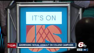 Former Vice President Joe Biden addresses sexual assault on college campuses during stop in Indianapolis - Video