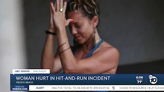 Pacific Beach woman hurt in hit-and-run incident